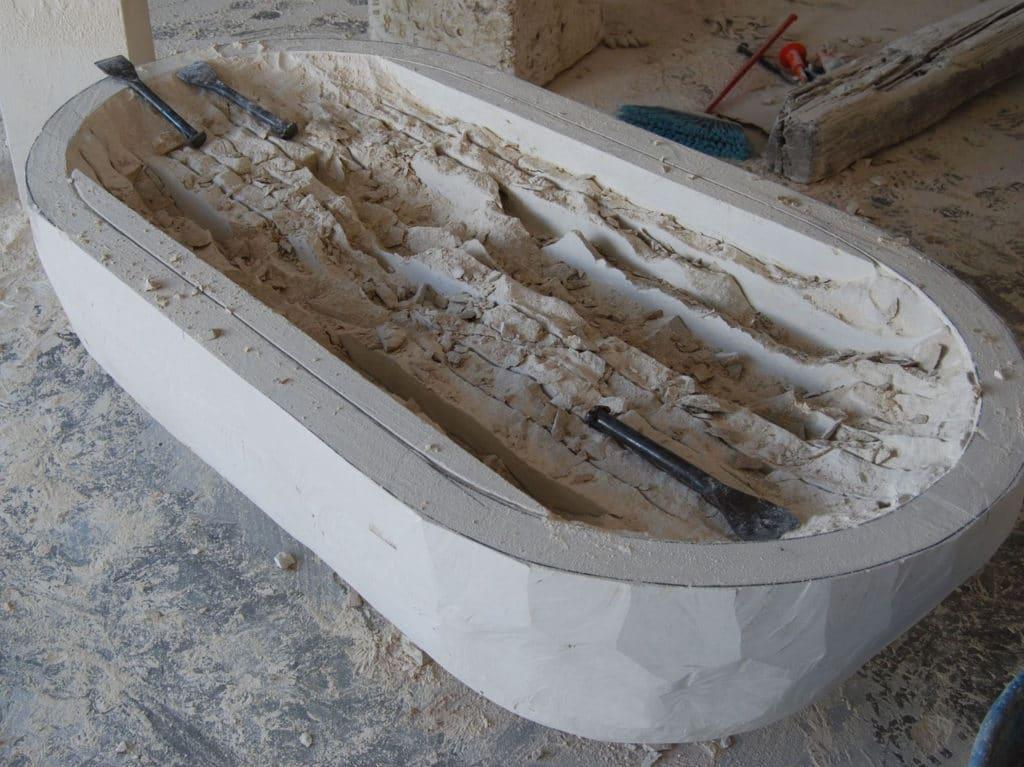 baignoire-marbre-fabrication - Marbre Import