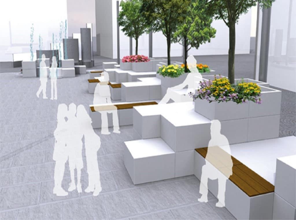 Mobilier urbain marbre import - Mobilier urbain design ...