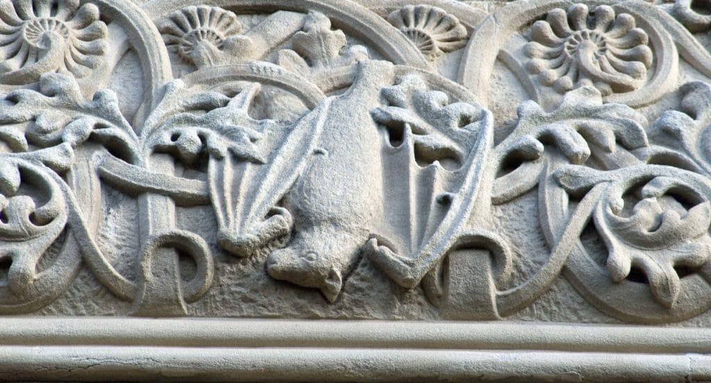 stone bat carving