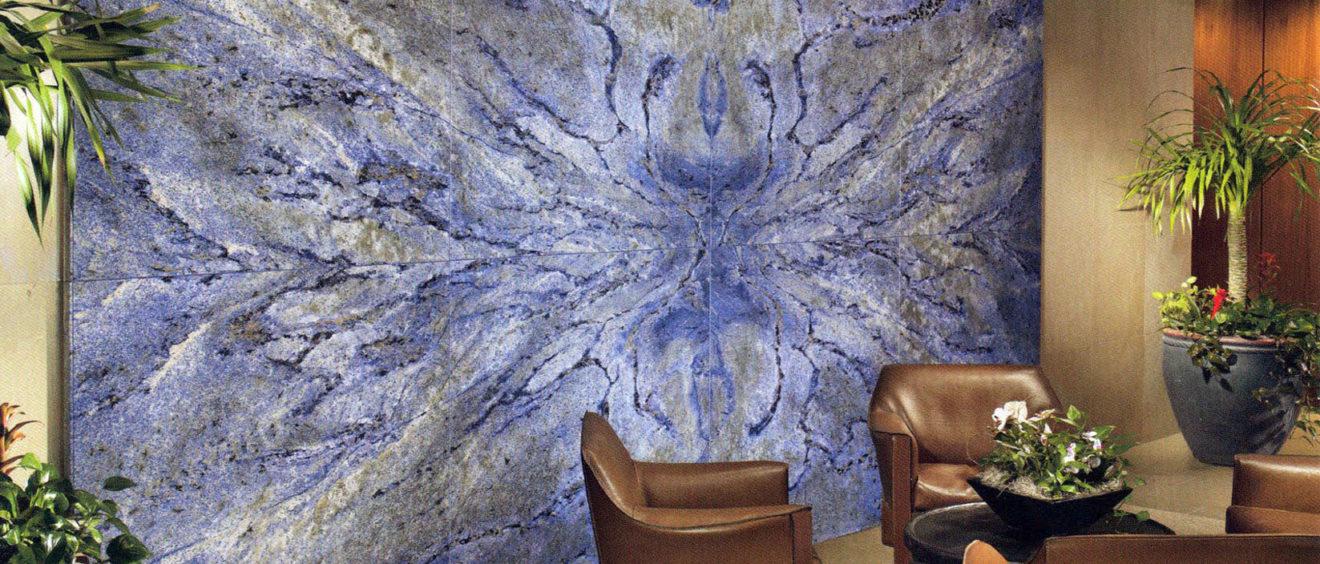 Revêtements en pierre d'exception, bleu bahia