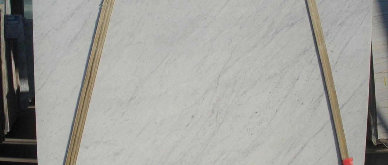 Tranche de marbre de Carrare blanc - Marbre Import