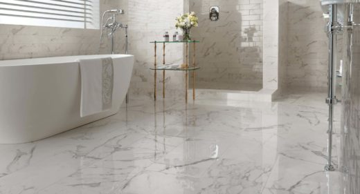 Salle de Bain marbre Calacatta Italie - Marbre Import