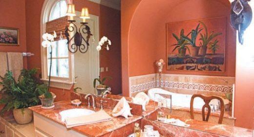 Marbre Import - Le marbre rouge, véritable atout pour une décoration chic et chaleureuse. Exemple de marbre rouge Alicante